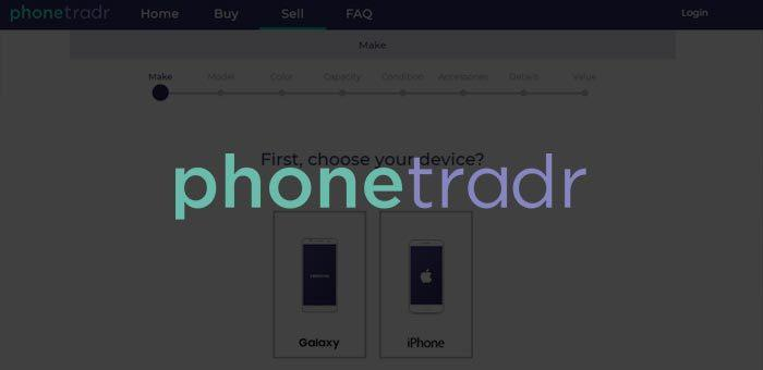 Buy or sell used smartphones on Phonetradr